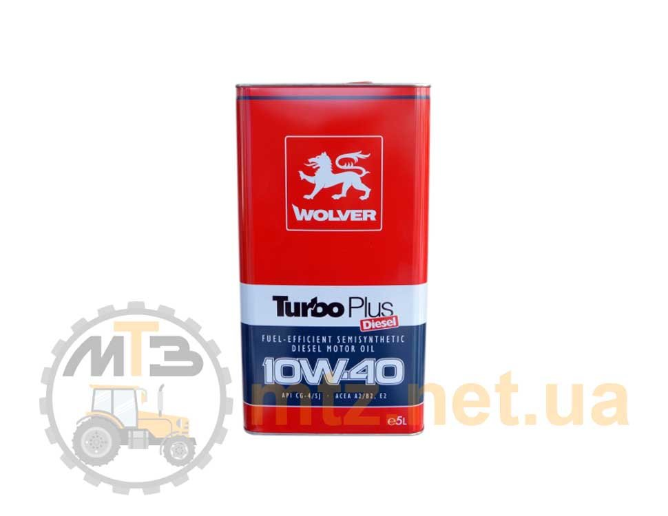 Моторное масло Wolver Turbo Plus 10W-40 (5 л)